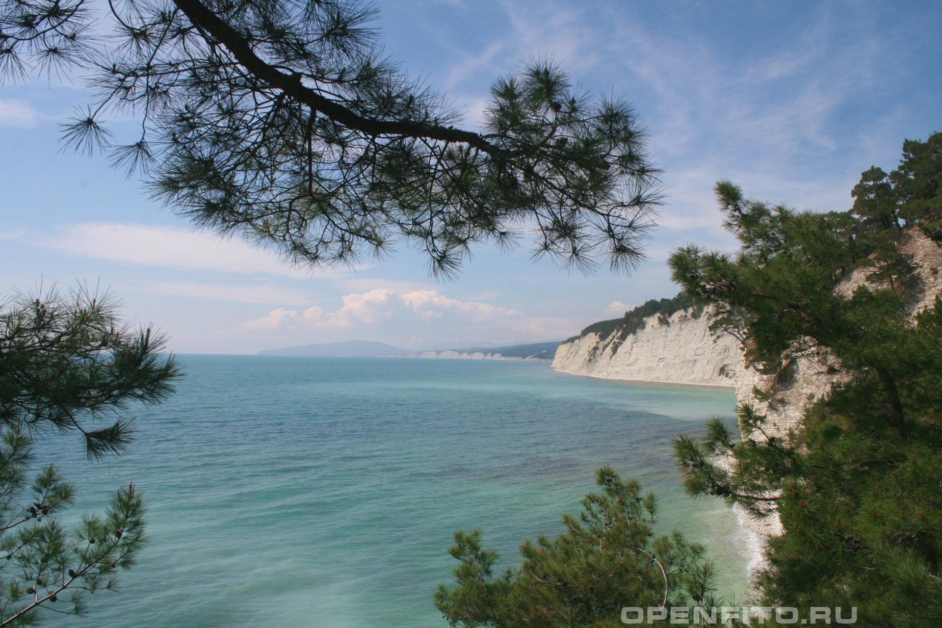 Побережье черного моря Район поселка Дивноморское