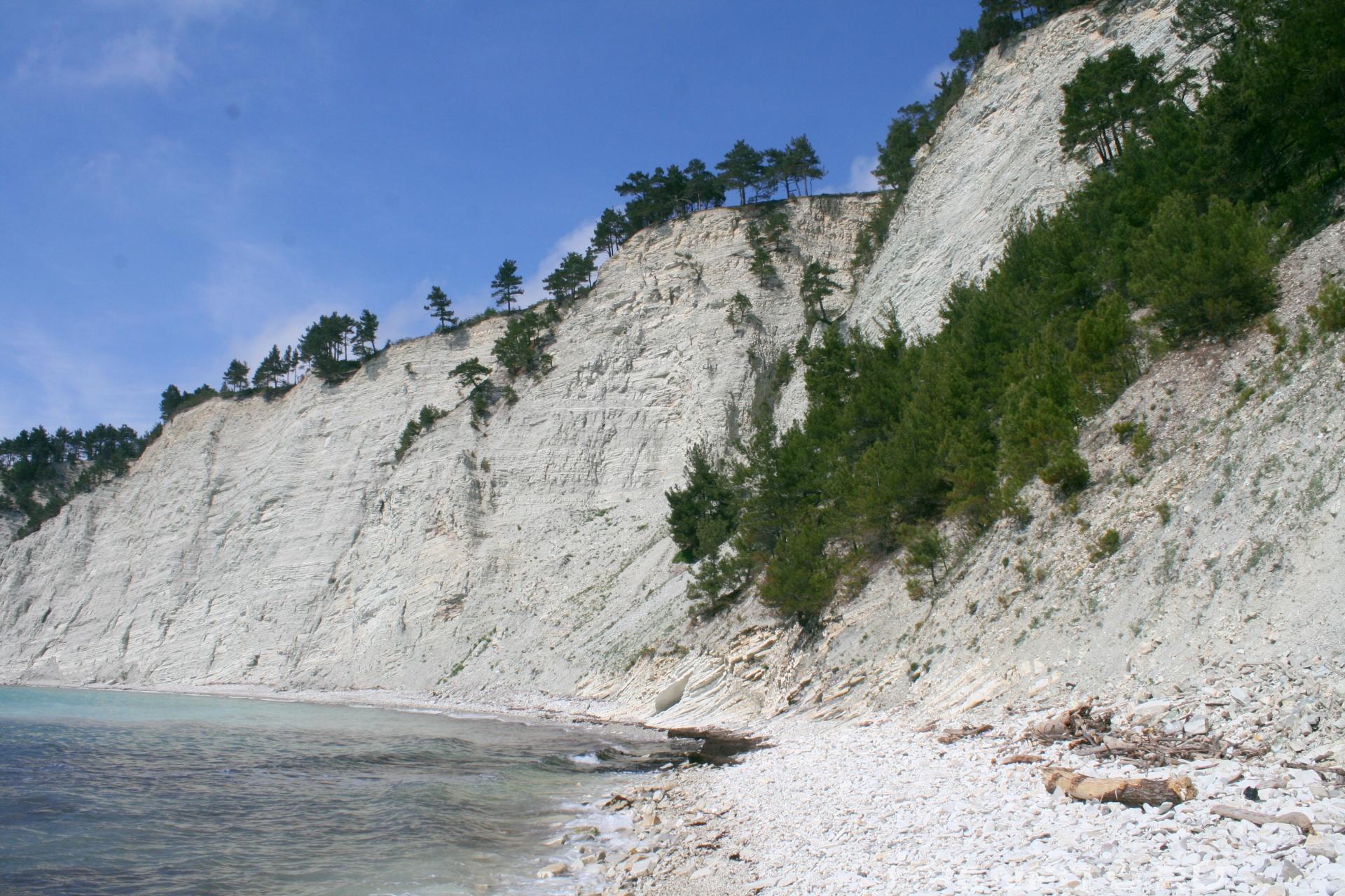 Меловой берег моря Черное море
