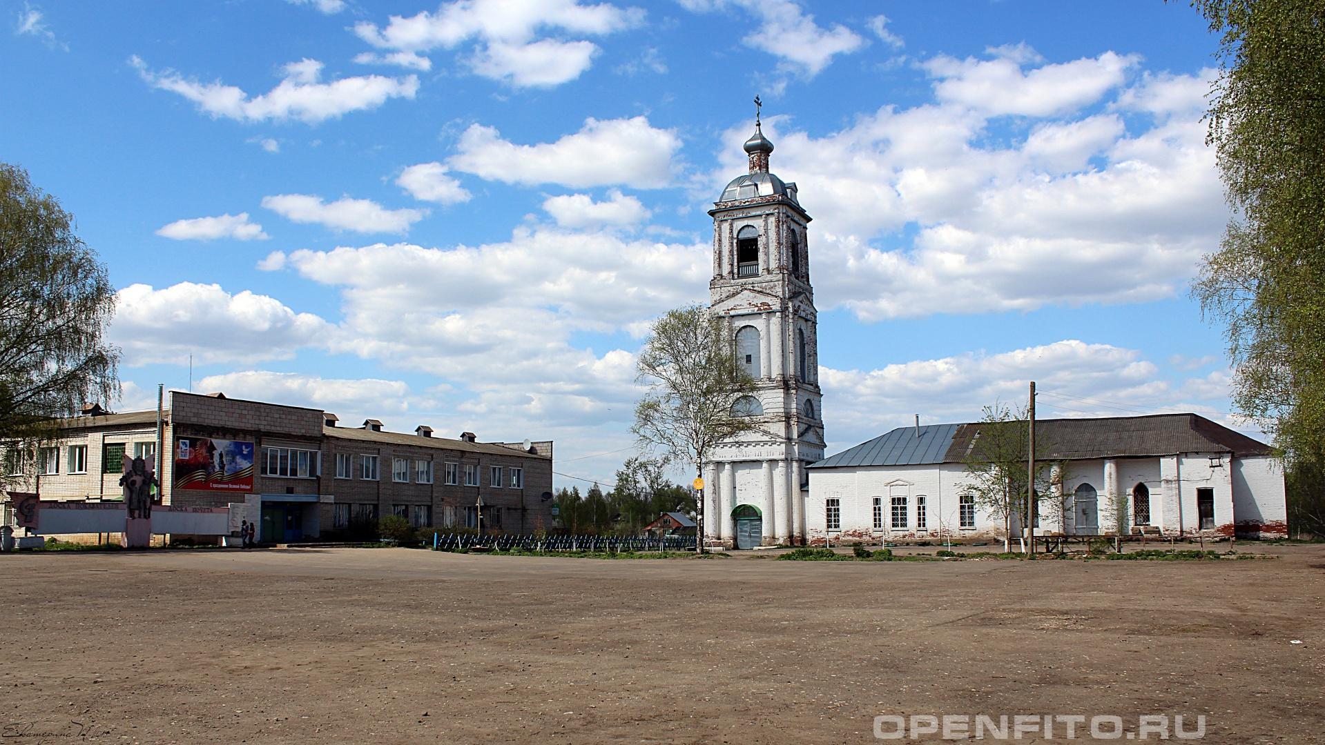 Церковь Воскресения Христова Ивановская область, село Осановец.