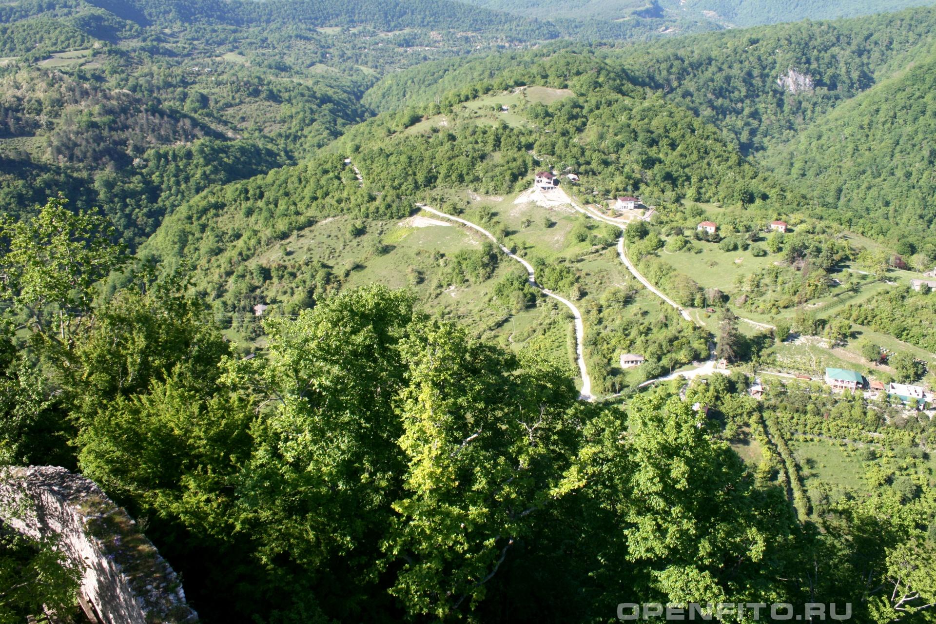 Вид из крепости Анакопия Гудаутский район, Абхазия