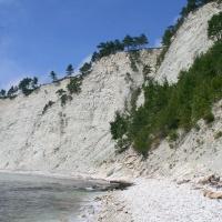 Меловой берег моря